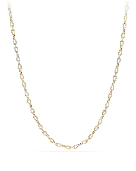 Continuance Small 18K Yellow Gold Chain Necklace, 36""