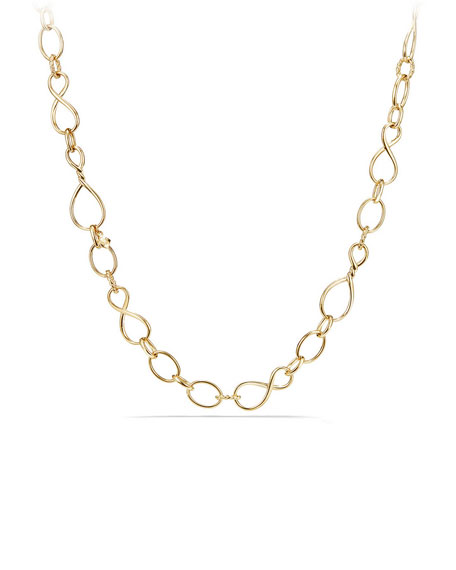 "Continuance Medium 18K Chain Necklace, 32"""
