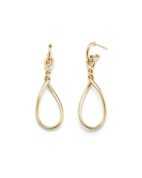 Continuance Twisted 18K Gold Teardrop Earrings