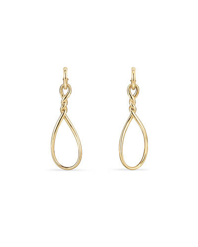 Continuance Twisted 18K Gold Teardrop Earrings