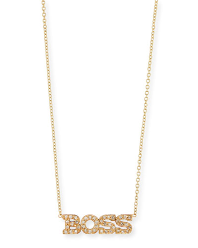 Personalized Four Letter Diamond Necklace in 14K Gold