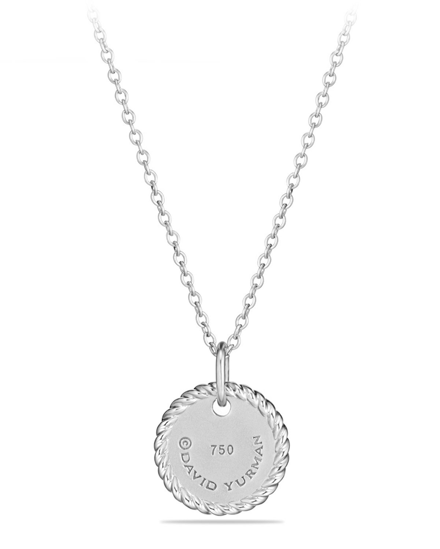 David yurman m initial necklace with diamonds neiman marcus aloadofball Choice Image