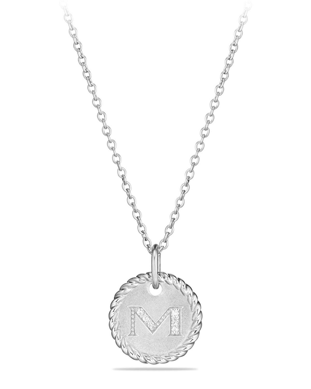 98658ce1e6cb David Yurman M Initial Necklace with Diamonds