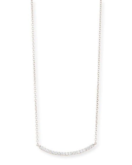 Fantasia by DeSerio Pav?? Crystal Bar Necklace