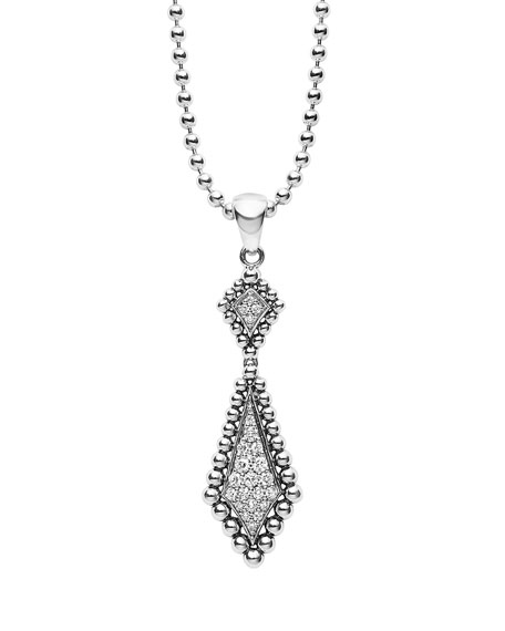 Sterling Silver Caviar Spark Pendant Necklace