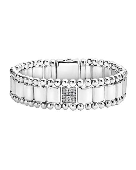15mm Caviar Spark Bracelet with Diamond Station