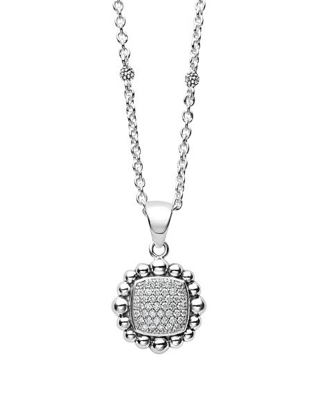 Lagos Sterling Silver Caviar Spark Pendant Necklace