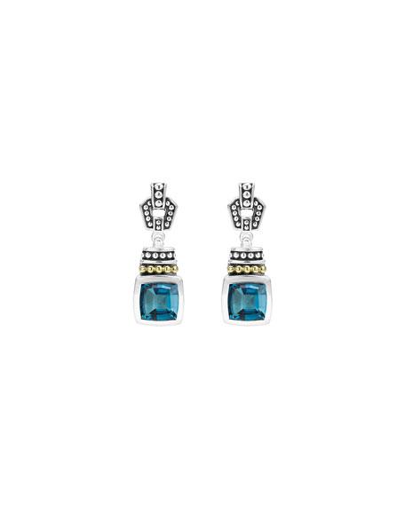 Caviar Color London Blue Topaz Drop Earrings