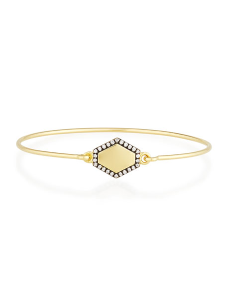 Jemma Wynne Personalized Prive Hexagon Bangle with Diamonds