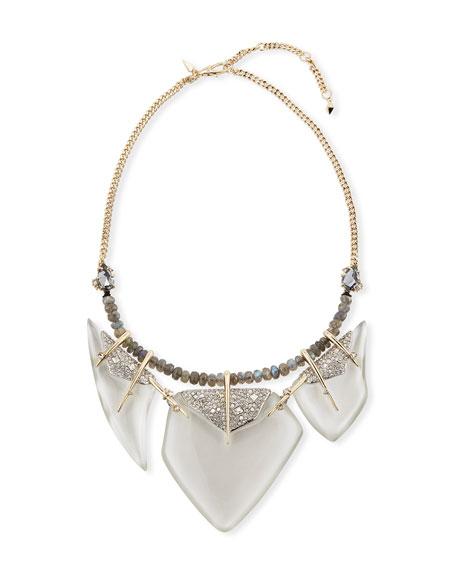 Alexis Bittar Lucite & Labradorite Bib Necklace