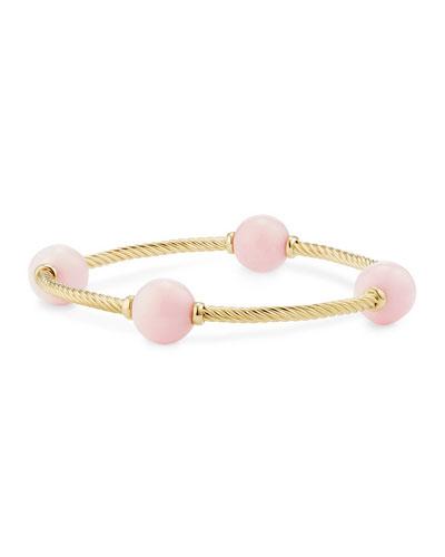 12mm Mustique 18K Pink Opal Station Bracelet