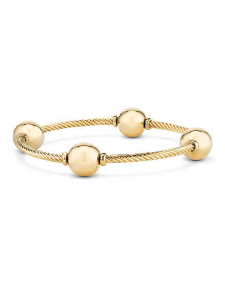 12mm Mustique 18K Dome Station Bracelet