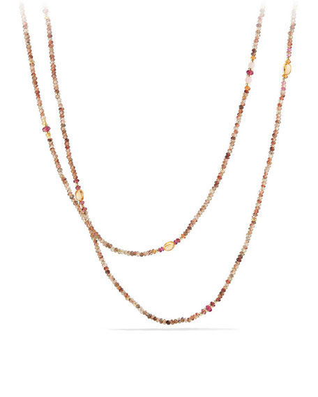 Mustique Tweejoux Andalusite Long Beaded Necklace, 62""