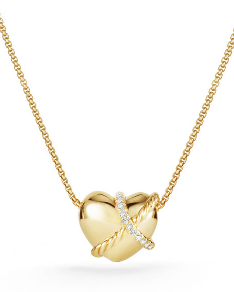 David yurman le petit coeur sculpted heart chain necklace for Same day jewelry repair