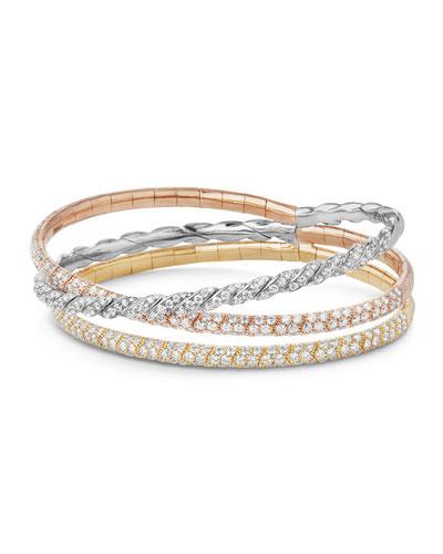 Three-Row Paveflex Bracelet with Diamonds