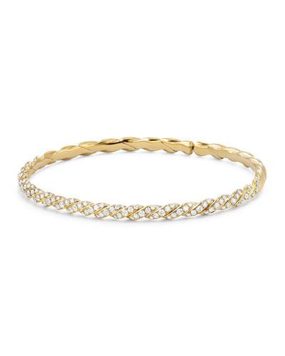 3.4mm Paveflex 18K Gold Bracelet with Diamonds