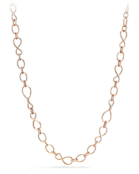 Continuance Medium 18K Rose Gold Chain Necklace, 33""