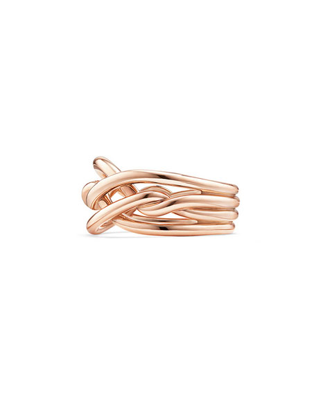 11.5mm Continuance 18K Rose Gold Ring, Size 7