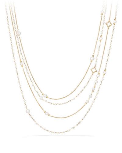Solari 18K Pearl Chain Necklace, 36