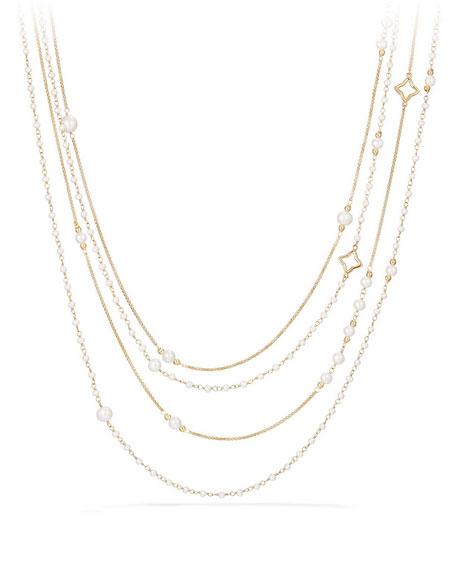 """Solari 18K Pearl Chain Necklace, 36"""""""