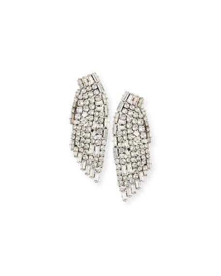 Cascading Crystal Smoking Earrings