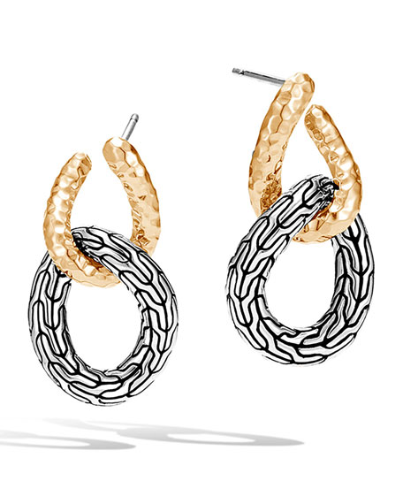Classic Chain Hook 18K & Silver Drop Earrings