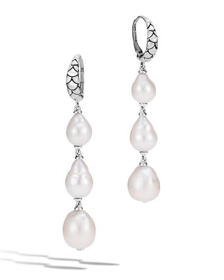 John Hardy Legends Naga Baroque Pearl Dangle Earrings