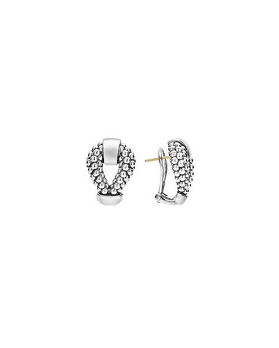 Derby Sterling Silver Caviar Earrings