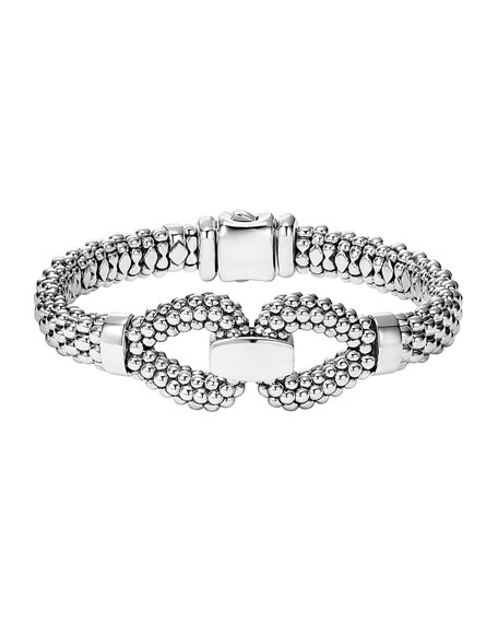 Derby 9mm Sterling Silver Caviar Bracelet