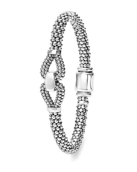 Derby 6mm Sterling Silver Caviar Bracelet
