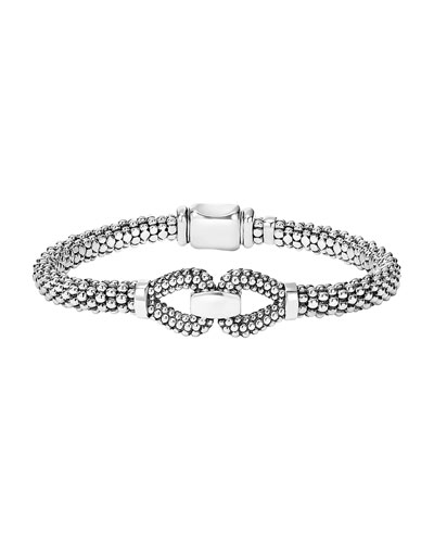 Derby 6mm Sterling Silver Caviar Bracelet