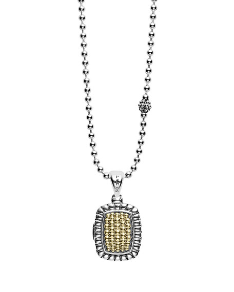 Lagos Beloved Rectangle Locket Necklace, 36