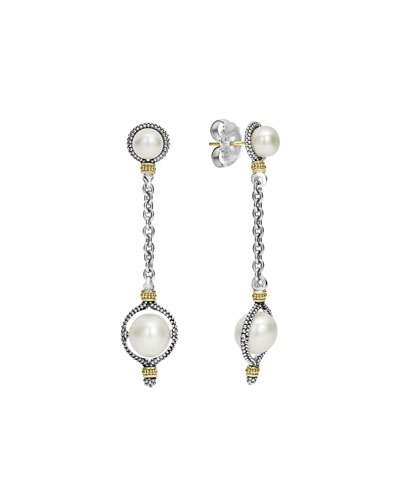Luna Pearl Dangle Earrings