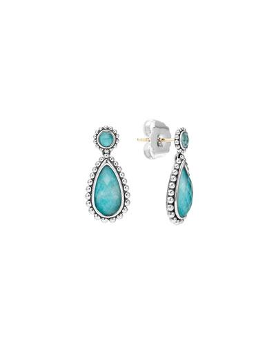 Maya Turquoise Doublet Drop Earrings