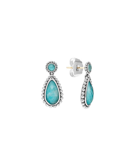 Lagos Maya Turquoise Doublet Drop Earrings