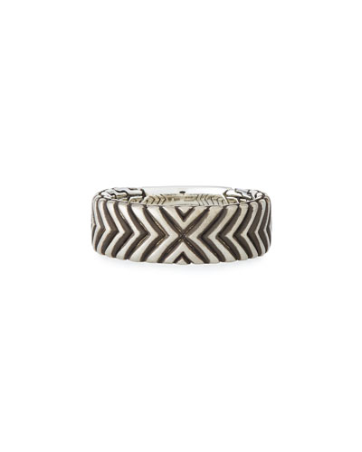Men's Bedeg Linear Triangle Band Ring, Size 10