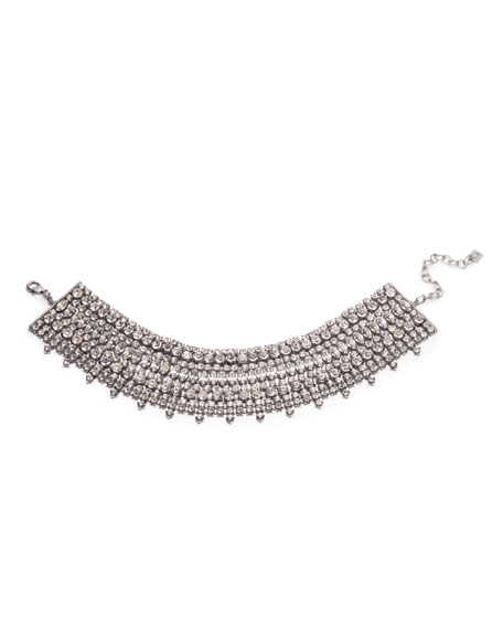 Dannijo Stellan Crystal Choker Necklace