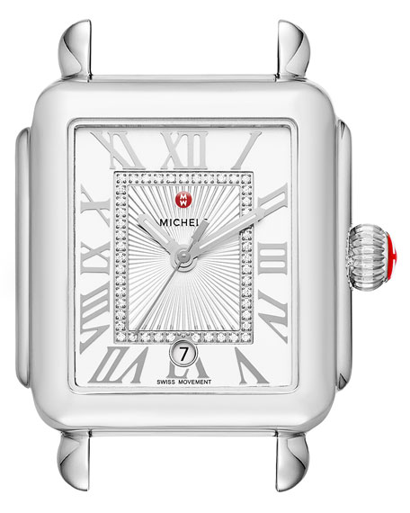 MICHELE Deco Madison Stainless Steel Watch Head with