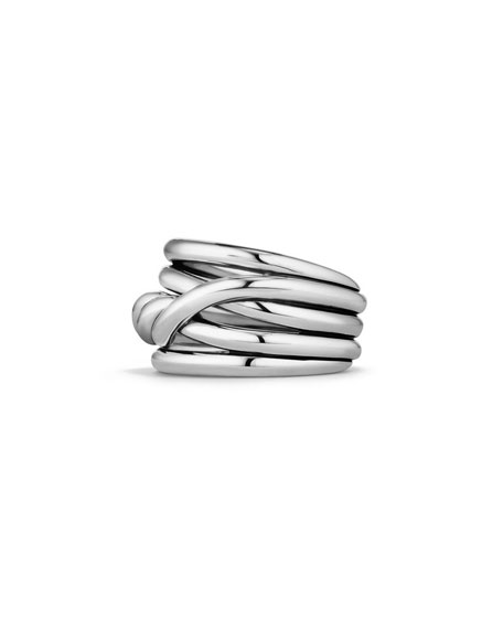 14mm Continuance Stacked Sterling Silver Ring