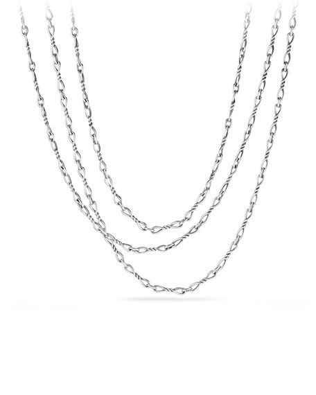 Continuance Small Sterling Silver Chain Necklace, 72""