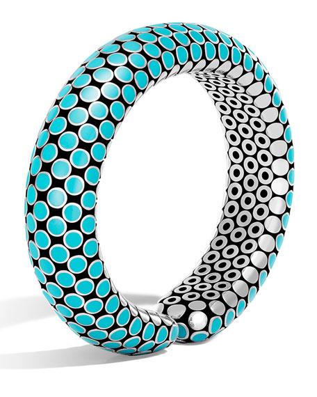 Dot Small Turquoise Enamel Flex Cuff Bracelet