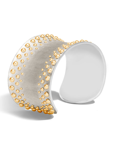 Dot Large Curved Cuff Bracelet