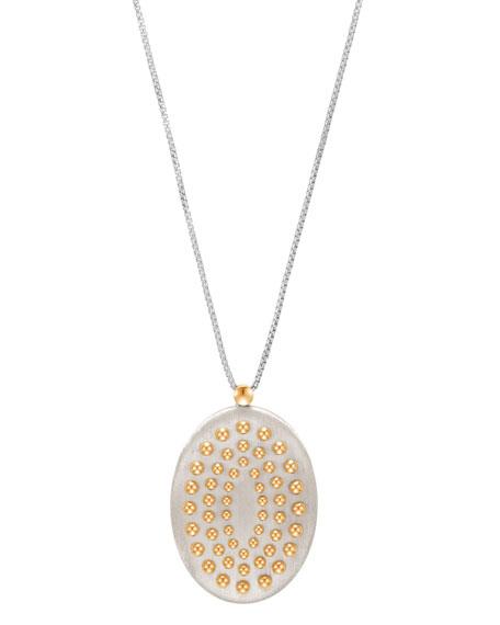 "Dot Large Oval Pendant Necklace, 36"""