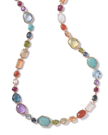18K Rock Candy Sofia Necklace in Summer Rainbow, 39.5""