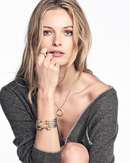 4mm Helena Cuff Bracelet with Diamond Wrap