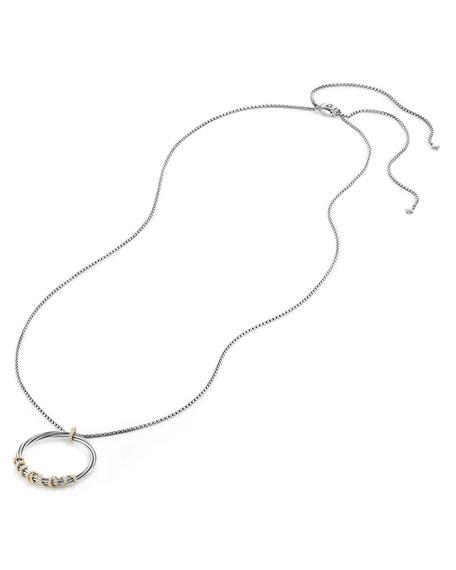 Helena Large Pendant Necklace with Diamonds