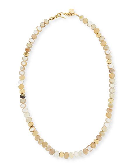 Ashley Pittman Umri Beaded Horn Necklace