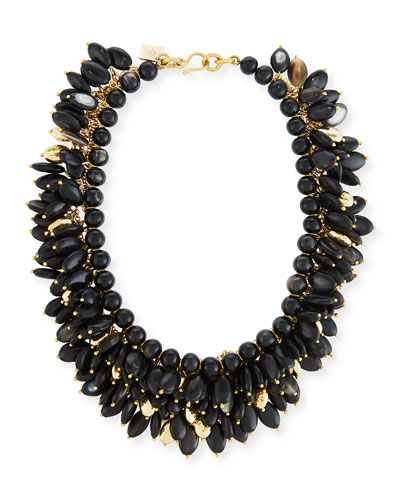 Kalamu Layered Dark Horn Necklace