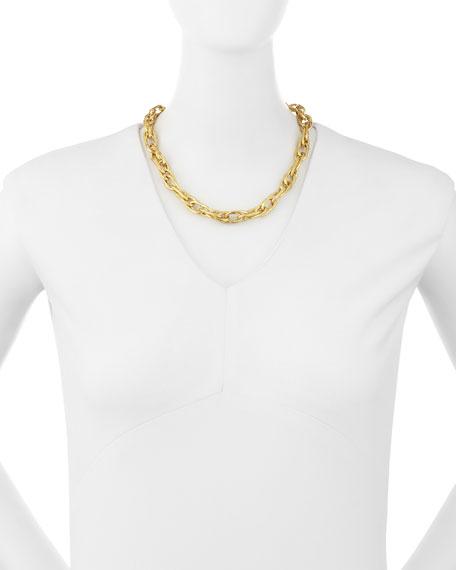 Saka Bronze Chain Link Necklace