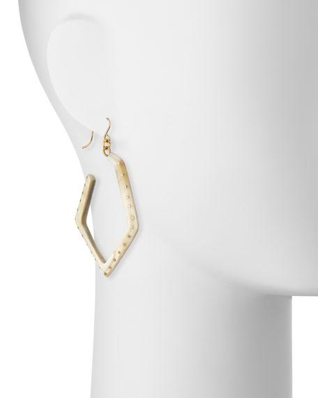 Awali Studded Light Horn Hoop Earrings